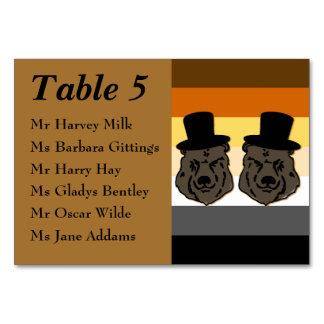 Tarjeta gay de la tabla de la recepción nupcial