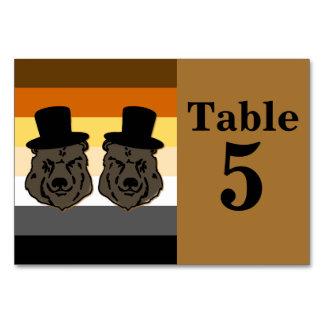 Tarjeta gay del número de la tabla de la recepción