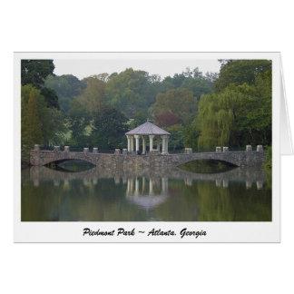 Tarjeta Gazebo en el parque de Piamonte - Atlanta, GA