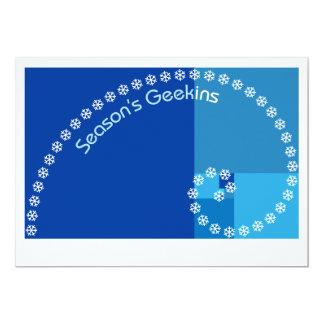 Tarjeta Geekins de la estación, saludos