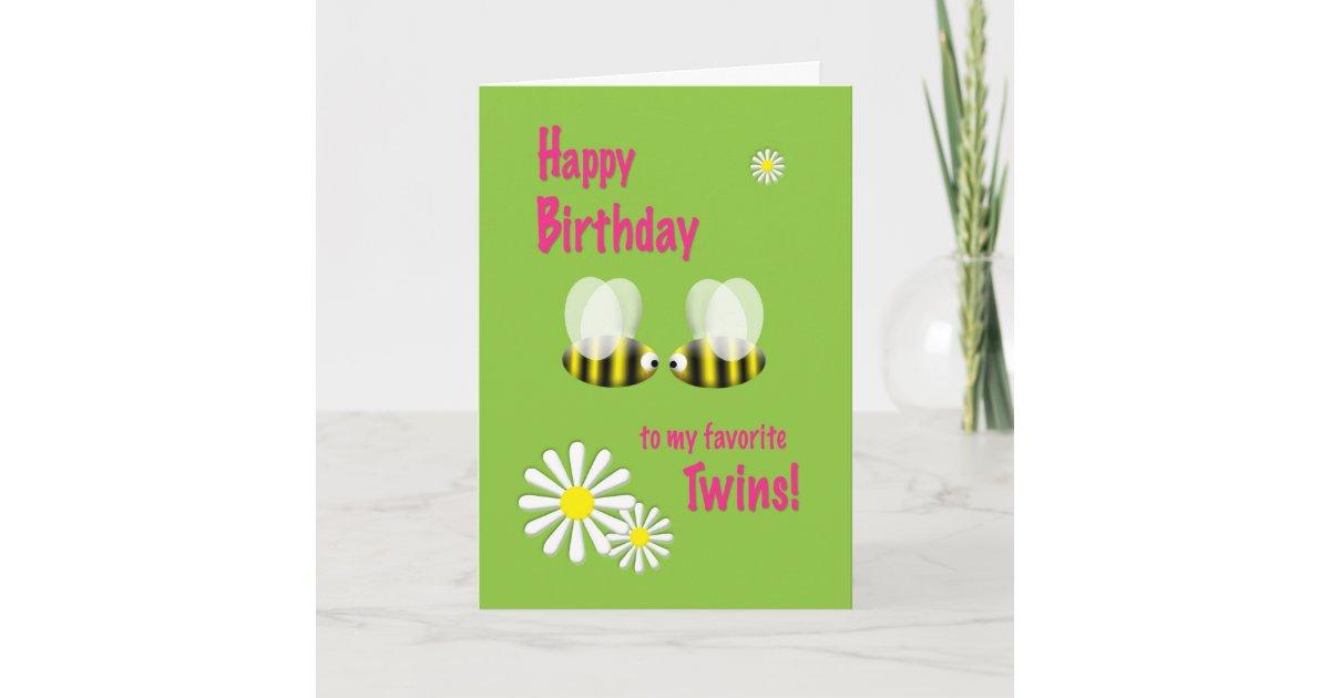 Tarjeta Gemelos del feliz cumpleaños | Zazzle.es