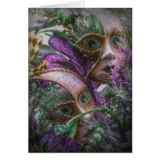 Tarjeta Gemelos púrpuras