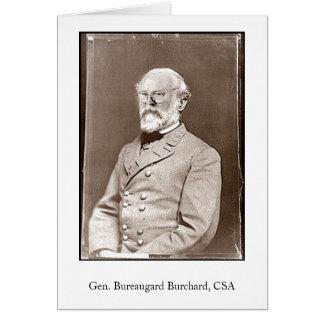 Tarjeta Gen. Bureaugard Burchard, CSA