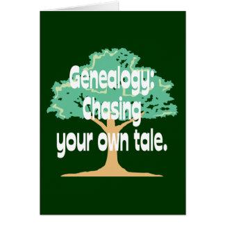 Tarjeta Genealogía: Persecución de su propio cuento