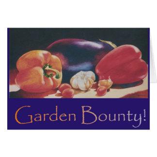 Tarjeta Generosidad del jardín