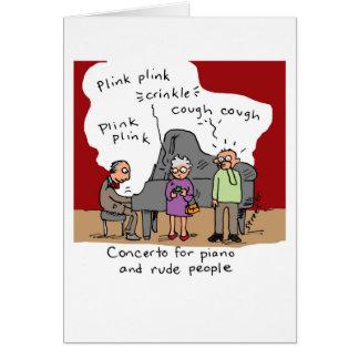 Tarjeta: Gente grosera