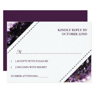 Tarjeta Geode Amethyst el | RSVP que se casa violeta