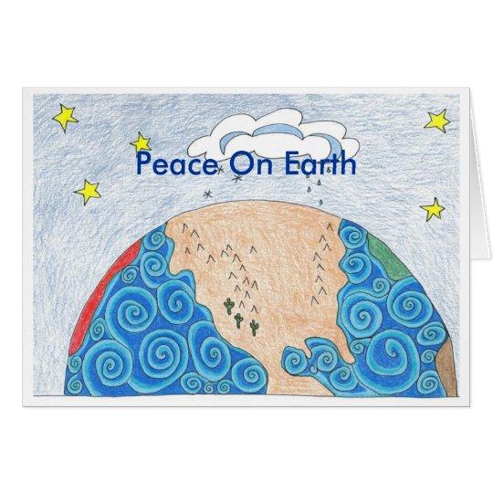 Tarjeta geografía física, paz en la tierra