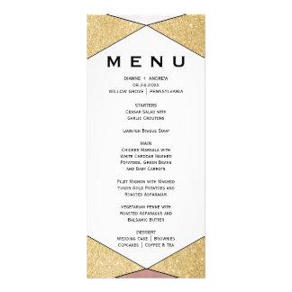 Tarjeta geométrica atractiva del menú de la cena lona personalizada