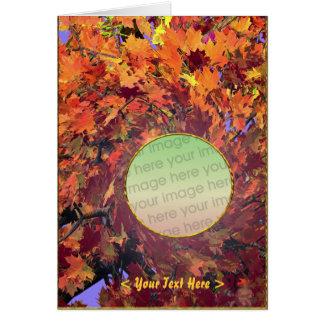 Tarjeta Giro del otoño de la acción de gracias (marco de