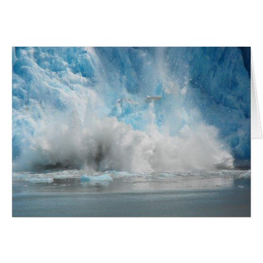 Tarjeta Glaciar que cae