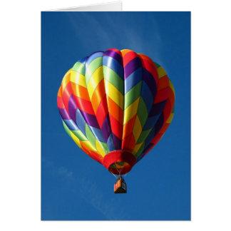 Tarjeta Globo del aire caliente del arco iris