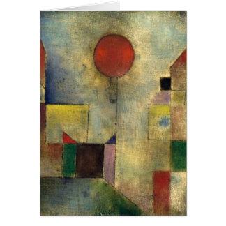 Tarjeta Globo del rojo de Paul Klee