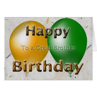 Tarjeta Globos de Brother del feliz cumpleaños