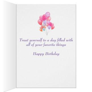 Tarjeta Globos del cumpleaños