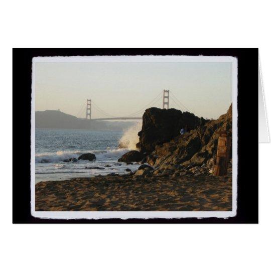 Tarjeta Golden Gate de la playa de China