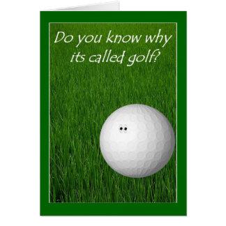 Tarjeta Golf