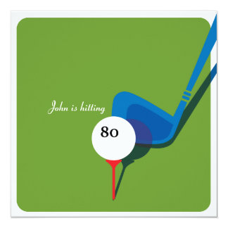 Tarjeta ¡Golf el 80.o cumpleaños - todavía balanceando!
