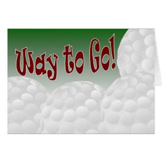 Tarjeta ¡Golf - manera de ir! ¡Congrats! ¡Impresionante!