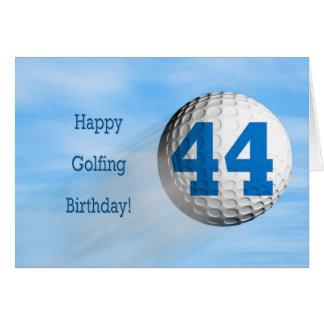 tarjeta golfing del 44.o cumpleaños