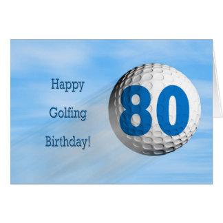 tarjeta golfing del 80.o cumpleaños
