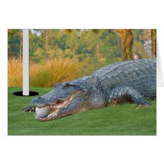 Tarjeta Golfing del cocodrilo de la mentira