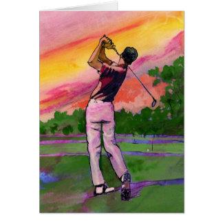 Tarjeta Golfista en el campo