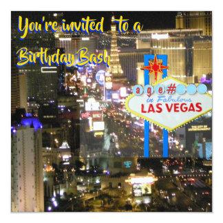 Tarjeta Golpe del cumpleaños de Las Vegas cualquier edad