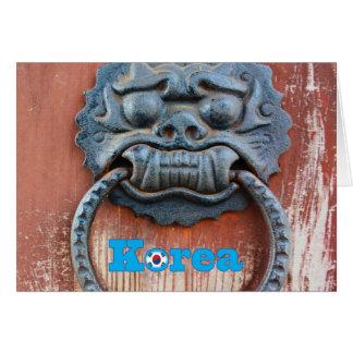Tarjeta Golpeador de puerta coreano del dragón