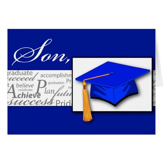 Tarjeta Gorra del hijo de la graduación