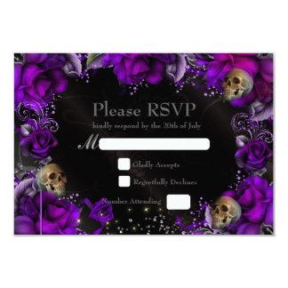 Tarjeta gótica de RSVP de los rosas que se casa Invitación 8,9 X 12,7 Cm