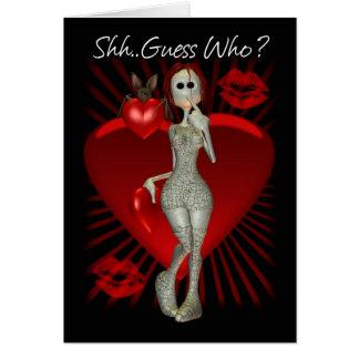 Tarjeta gótica del el día de San Valentín con la