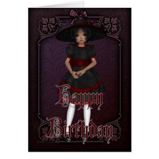 Tarjeta gótica del feliz cumpleaños del diseño 1
