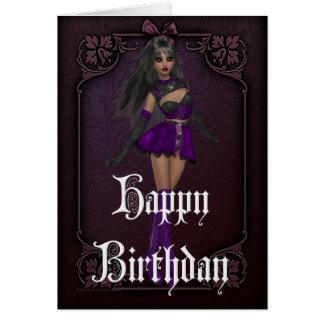 Tarjeta gótica del feliz cumpleaños del diseño 4