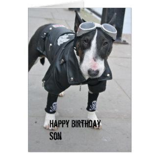 Tarjeta gótica del hijo del feliz cumpleaños del d