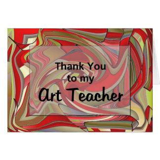 Tarjeta Gracias a mi profesor de arte