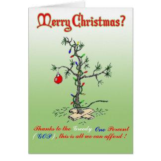 Tarjeta Gracias al navidad divertido codicioso C del un