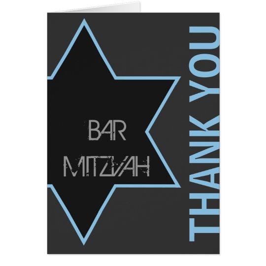 Tarjeta Gracias barra moderna Mitzvah