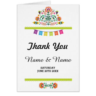 Tarjeta Gracias carda el boda nupcial de la fiesta doblado