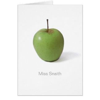 Tarjeta Gracias cardar por el profesor - Apple verde