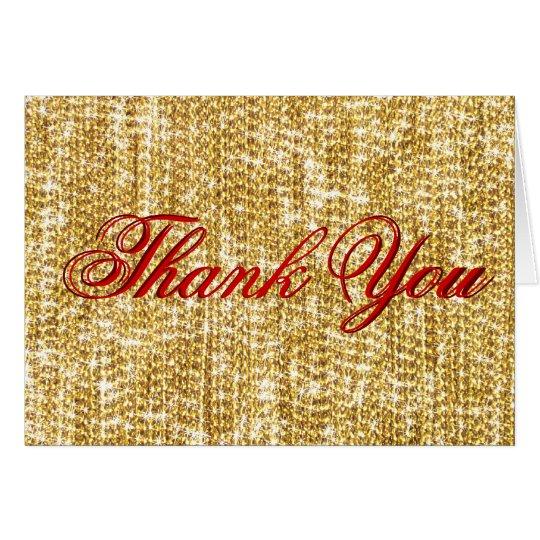 Tarjeta Gracias el oro en el mundo