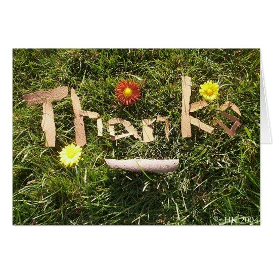 Tarjeta Gracias en corteza