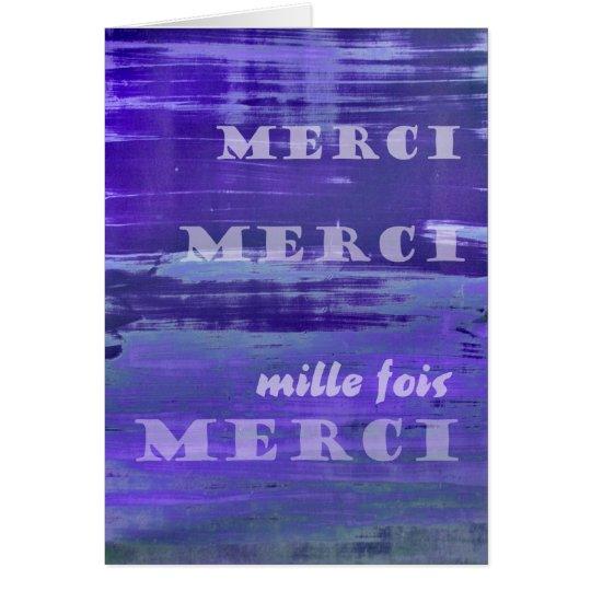 Tarjeta Gracias en francés