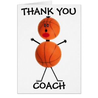 Tarjeta Gracias entrenador de béisbol
