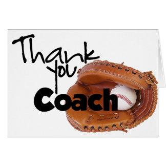 Tarjeta Gracias entrenar, béisbol
