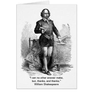 Tarjeta ¡Gracias, estilo de Shakespeare!