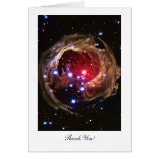 Tarjeta Gracias - estrella supergigante roja Monocerotis