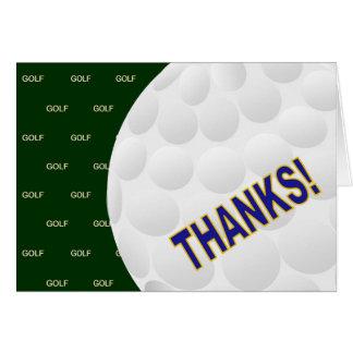 Tarjeta ¡Gracias! - Golf