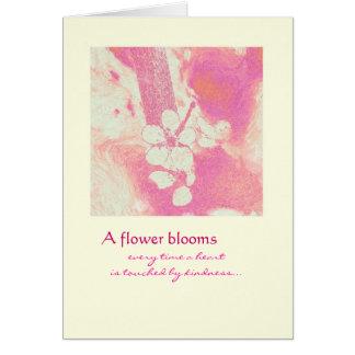 Tarjeta Gracias - las floraciones de la flor