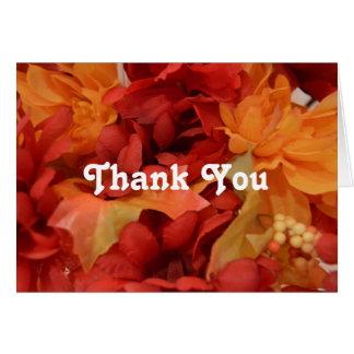 Tarjeta Gracias los colores del otoño/de la caída